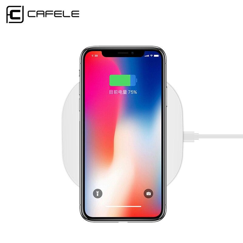 Cafele Универсальный Ци Беспроводной Зарядное устройство для <font><b>iPhone</b></font> X 8 плюс Samsung S8 S7 S6 edge быстрая Беспроводной зарядного устройства Зарядное устр&#8230;