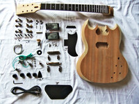 2018 New Popular GYLP DIY Kit Set electric guitar Basswood Body Maple Neck Rosewood Fingerboard with Accessories free shipping