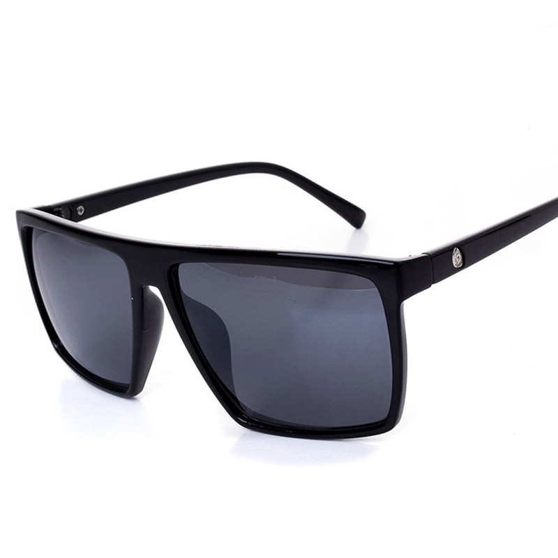 Oversized Flat Top Sunglasses Women Men Square Sun Glasses Vintage Eyeglasses Retro Gafas UV400 Male Eyewear Oculos de sol