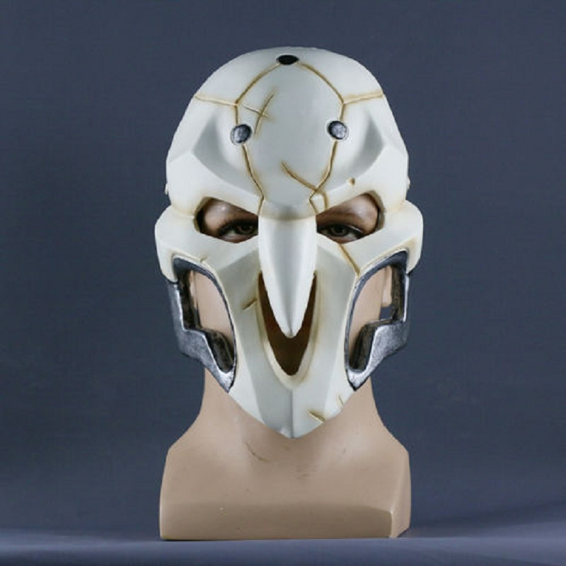 2016 Over watch Game Mask Cosplay Reaper Mask Helmet Halloween Reaper Party Mask