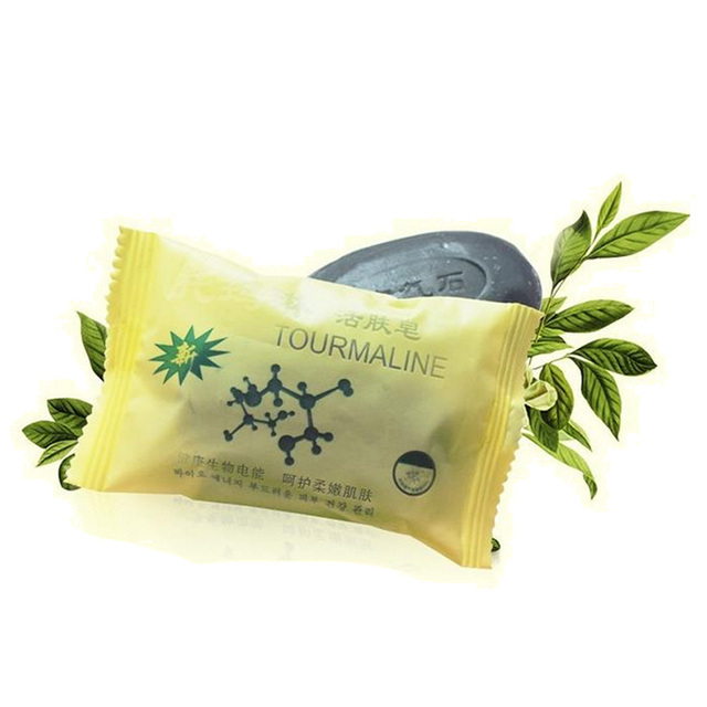 Новый Турмалин мыло Bamboo активной энергии мыло уголь концентрированный мыло для ance лица и тела Красота Здоровый Уход мыло 50 г