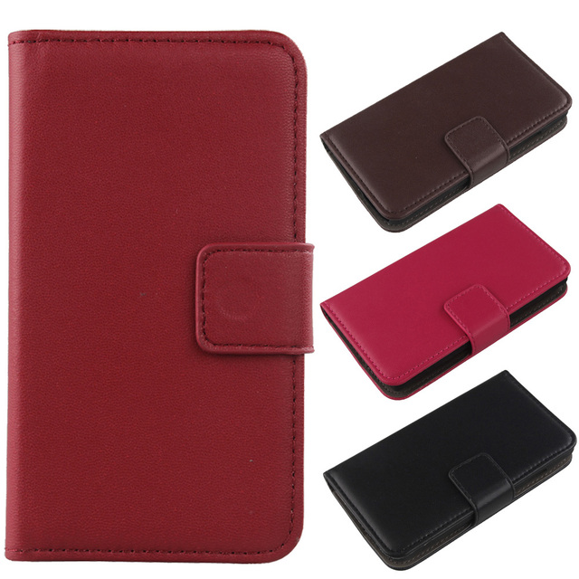 LINGWUZHE Book Design Cell Phone Genuine Leather Case For Samsung Galaxy A5 SM-A500
