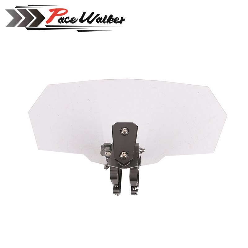 Airflow Adjustable Windscreen Wind Deflector Universal Motorcycle Windshield for Kawasaki BMW Ducati honda KTM 49 45cm for 125cc 150cc motorcycle windscreen deflector wind deflector wind shield windscherm scooter free shipping