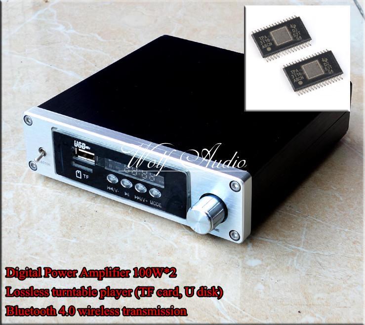 DP2 Bluetooth 4.0 Lossless Audio Player TPA3116D2 Digital Power Amplifier 100W*2 Stereo HiFi mini amplifier kguss hc502 50w 2 hifi tpa3116d2 power amplifier bluetooth 4 2 stereo mini digital amplifier