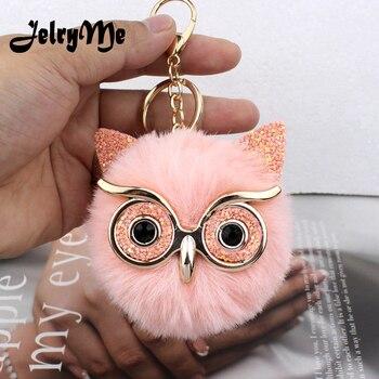 May-31 Fluffy Owl Keychain