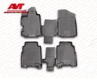 Floor mats case for Honda FR V 2004 2010 4 pcs rubber rugs non slip rubber interior car styling accessories
