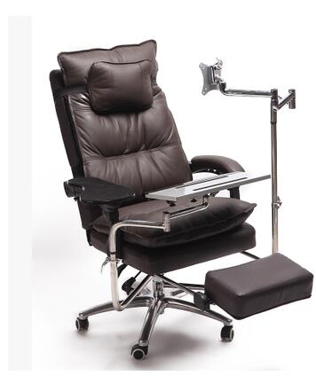 Real leather computer desk and chair. A single table can be reclined. E-sports chair.. 240337 ergonomic chair quality pu wheel household office chair computer chair 3d thick cushion high breathable mesh