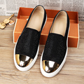 new 2016 men loafers genuine leather rivets slip on platform flat casual shoes men driving shoes size 39-43