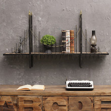 American Retro Industrial Wind Overpass Mural Wall Shelf Storage Decoration Cafe Bar