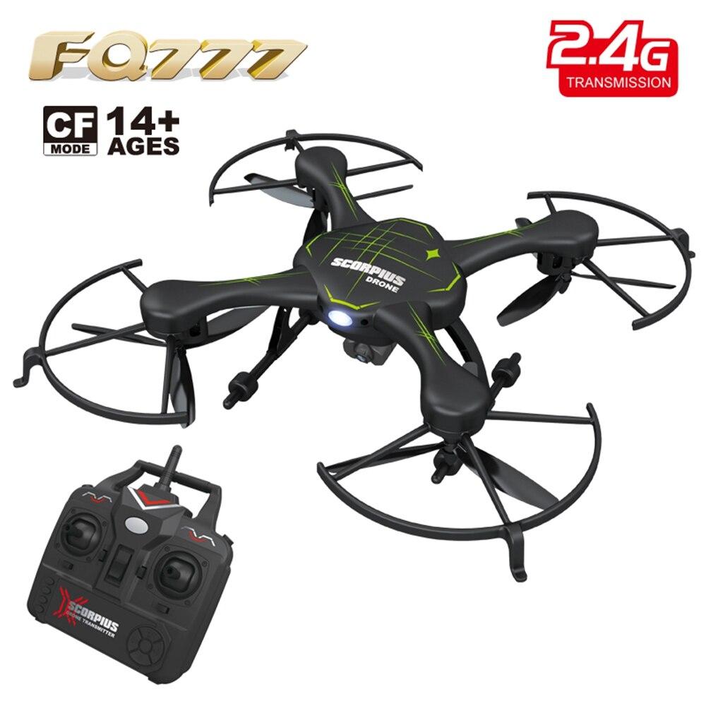 955C FQ777 RC Drones con 2MP Cámara 2.4G 4CH 6-Axis Gyro RTF RC Quadcopter CF Mo