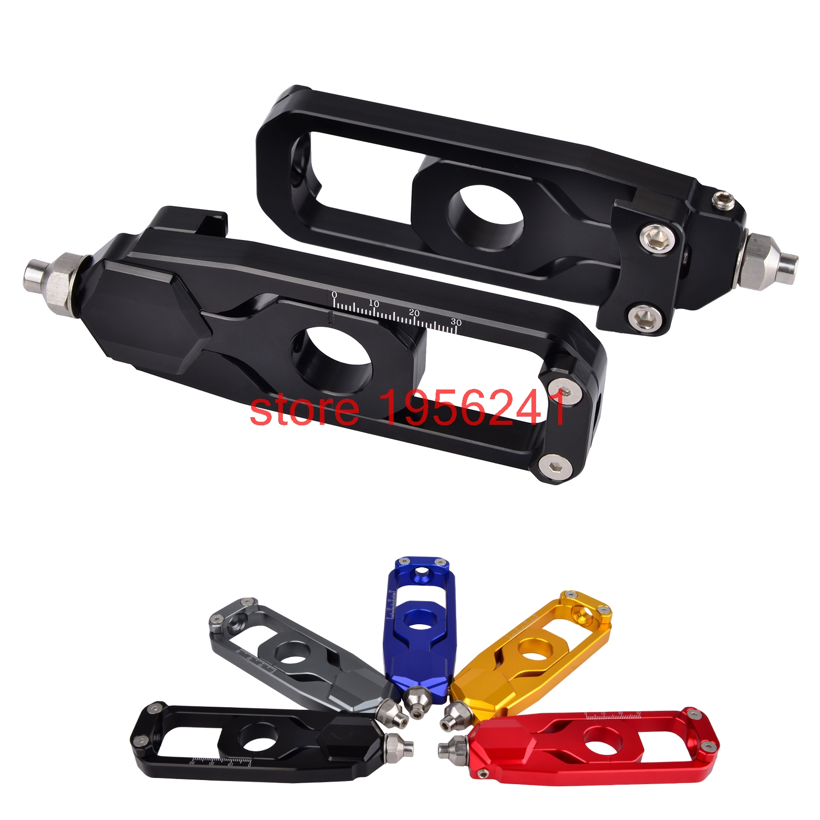 Motorcycle CNC Rear Axle Spindle Chain Adjuster Block For Yamaha MT09 MT-09 Tracer XSR900 XSR 900 2013-2017 bjmoto for kawasaki z900 2017 motorcycle chain adjuster z 900 tensioner catena rear axle spindle chain adjuster parts