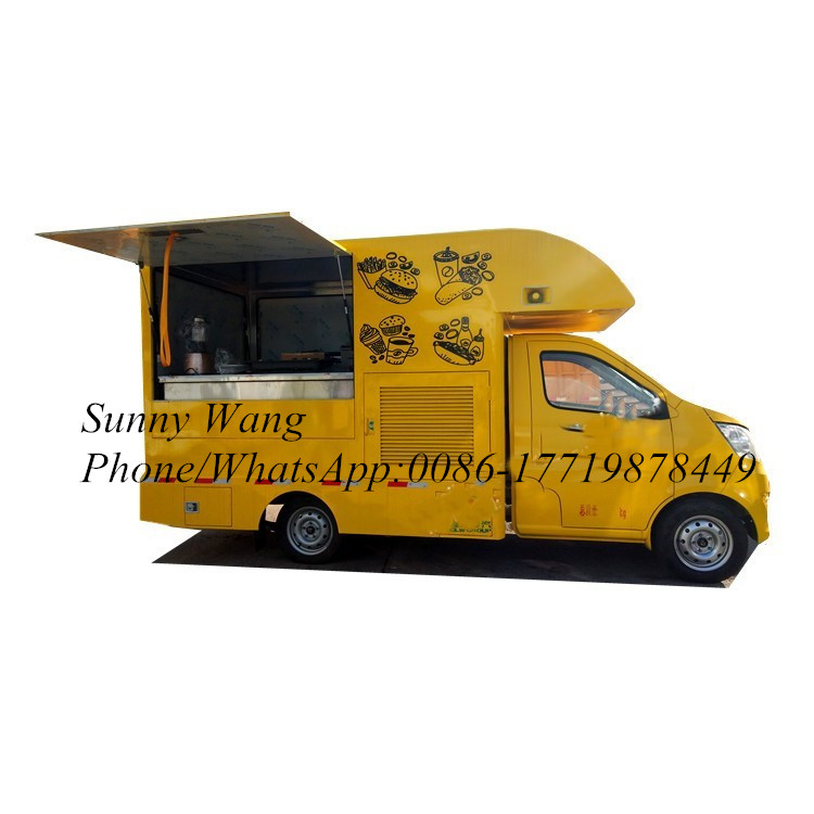 China Large Food Cart Food Truck Trailer Hot Dog Hamburger Ice Cream Dining Food Car