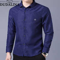 Dudalina Hemd Männlichen Geometrische Casual Marke Kleidung Männer Shirt 2019 Langarm Formale Business Mann Hemd Slim Fit Designer Kleid