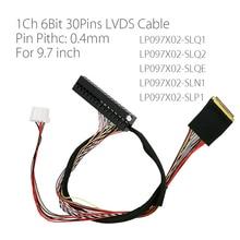 I PEX 20525 030E 02 Pin 0,4mm paso 1ch 6bit 30P Cable LVDS para Ipad 2 9,7 pulgadas LP097X02 SLQ1 SLQ2 SLQE SLN1 SLP1 pantalla LCD