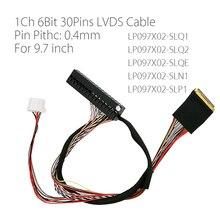 I PEX 20525 030E 02 Pin Sân 0.4Mm 1ch 6bit 30P LVDS Cáp Cho Ipad 2 9.7 Inch LP097X02 SLQ1 SLQ2 SLQE SLN1 SLP1 Màn Hình Hiển Thị LCD