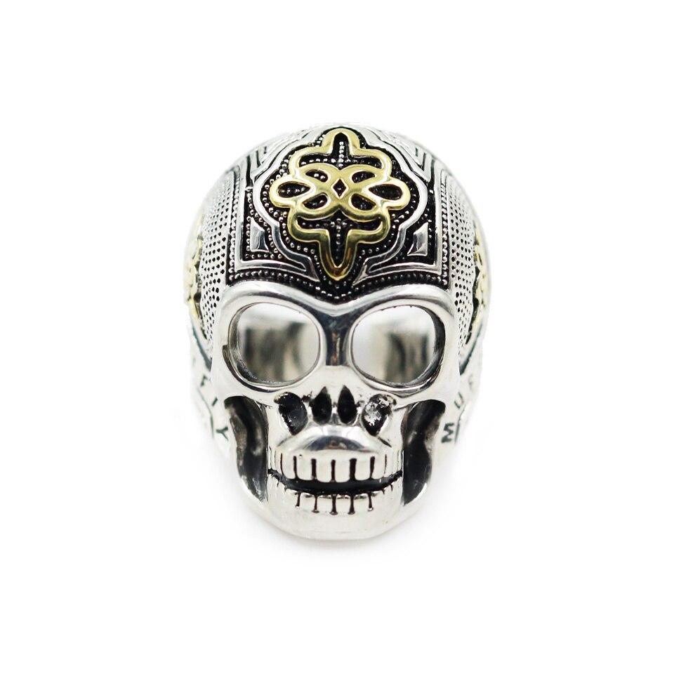 Trendy Sterling Silver Skeleton Cincin Keberanian Daya Keren Pria Perhiasan  Keabadian Sporty Untuk Wanita Bijoux 2018 Merek Baru Huarache d76fae9c77