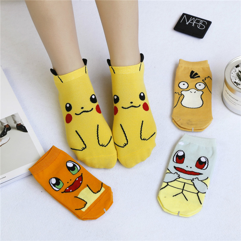 Harajuku Cartoon Character Cute Short   Socks   Women Fashion Cute Patterend Ankle   Socks   Hipster Pet elf Ankle Funny   Socks   Female
