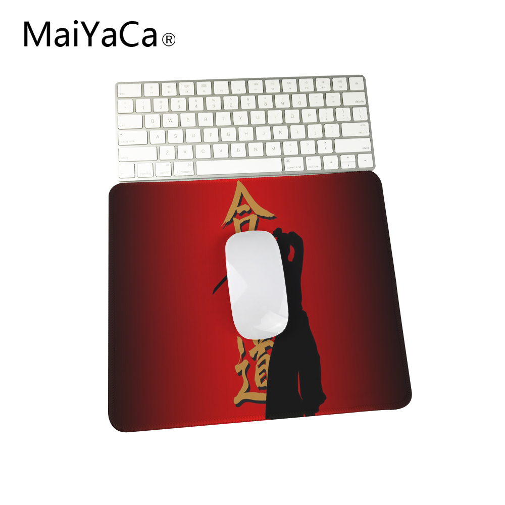 US $1 65 12% OFF|Aikido Japanese Martial Arts Custom Desing Gaming Mouse  Pad Speed Control Computer Lock Edge Mats-in Mouse Pads from Computer &
