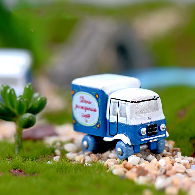 Mini Truck Car Fairy Garden Miniature Craft Micro Cottage Landscape Decoration For DIY Resin Crafts LBShipping