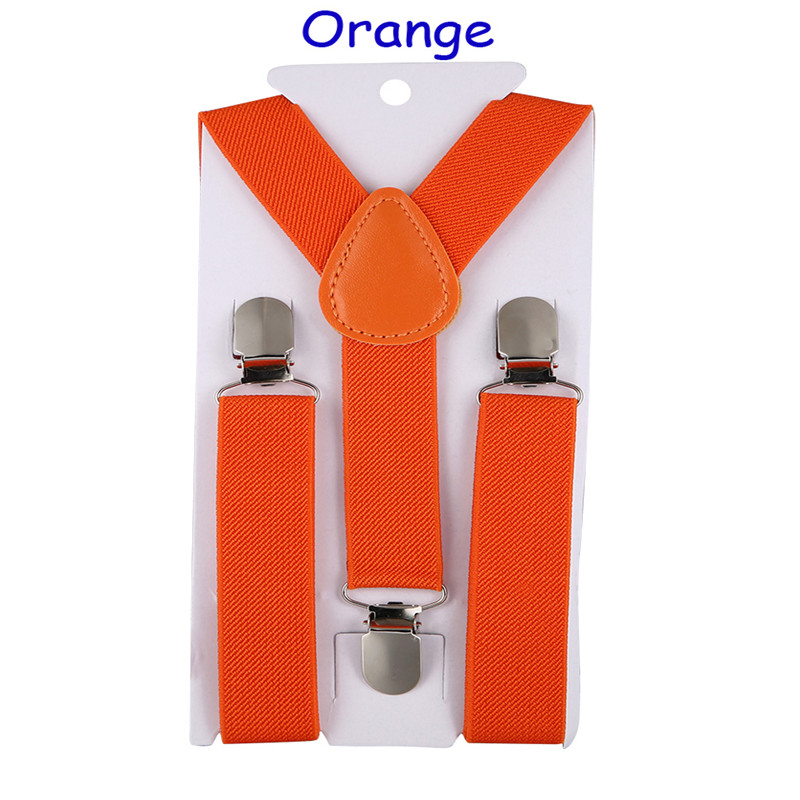 40 Color Elastic Leather Suspenders Baby 3 Clips Braces Vintage  Children Boy Girl Suspender For Trousers Wedding Suspensorio