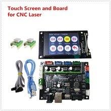 OFF-LINE MKS DLC GRBL ЧПУ контроллер + MKS TFT24 ЧПУ ЖК-дисплей + ЧПУ лазерный драйвер 3 Ось управления ЧПУ начинающие части