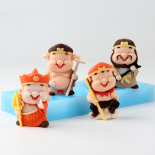 Nicole Silicone Chocolate Mold 4-Cavity Journey To The West Characters Shapes Mould