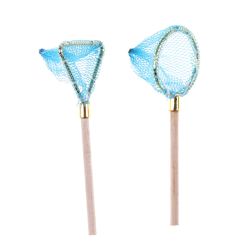 1:12 Dollhouse Miniature Mini Fishing Net Model Doll Accessories Toy For Forest Animal Family Collectible Gift