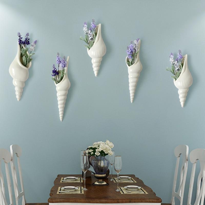 Vazo dekorative mur varur vazo dekorative të pastra lule të bardha - Dekor në shtëpi - Foto 4