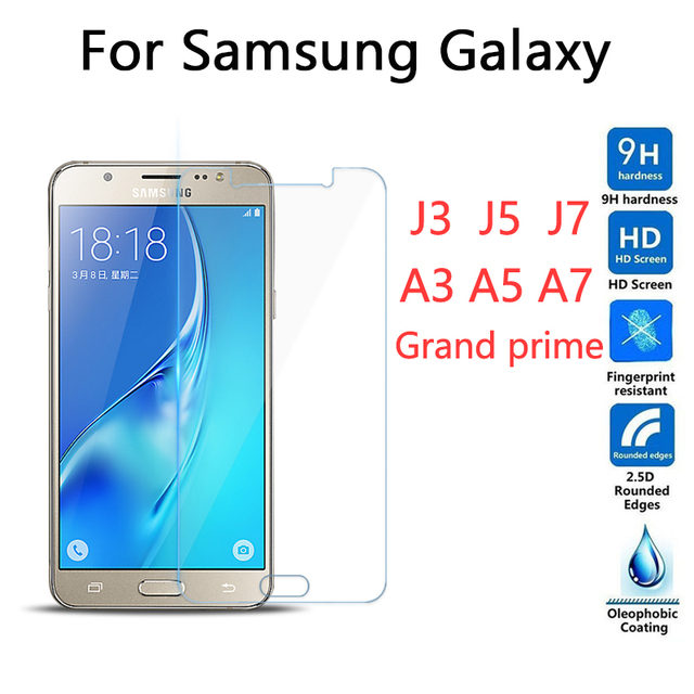 MLLSE 9H Ttempered glass For Samsung Galaxy Grand prime G530 J1 J3 J5 J7 A3 A5 A7 2016 2015 screen protector glass film for g530