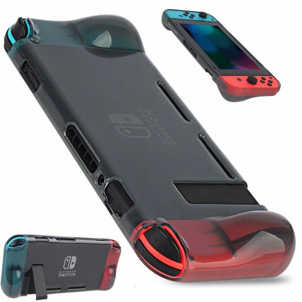 Nintend Schalter NS Weiche TPU Grip Fall Ergonomische Anti-Scratch-Schutz Fall Haut Shell Cover Halter Für Nintendos Schalter konsole