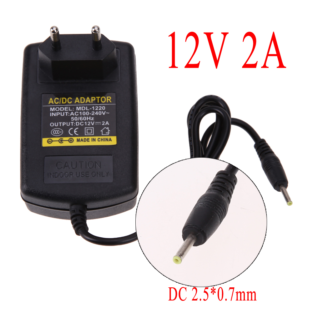Universal AC 110~240V to DC 12V 2A 2.5x0.7mm Power Supply Adapter for Windows for Android Tablet PC Pad Wall Charger EU Plug