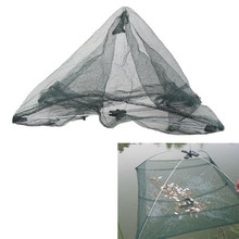 Portable 60*60cm Folding Fishing Net Nylon Network Shrimp Fish Net Casting Net Fishing Cage Outdoor Fishnet
