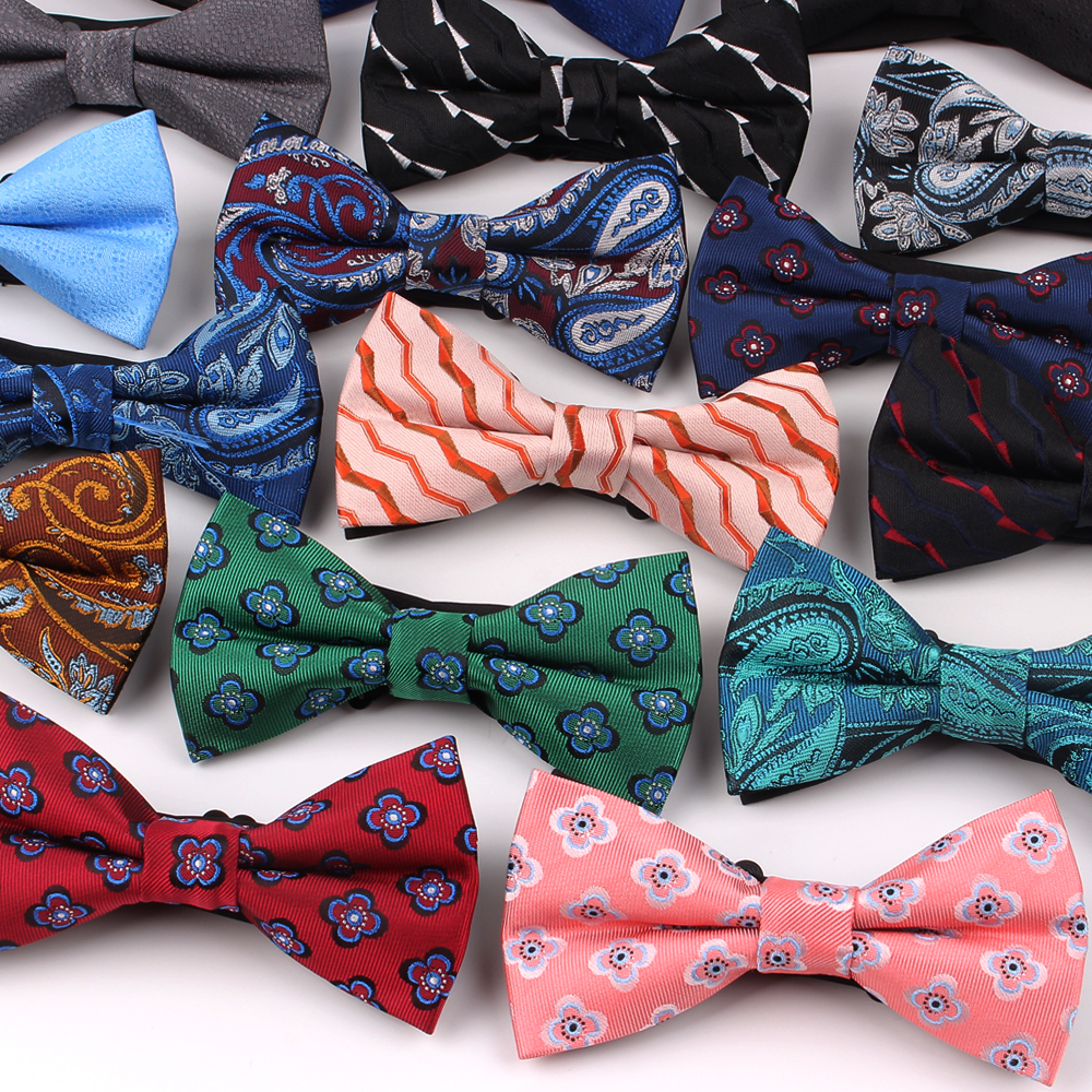 Jacquard Men Bowtie Polyester Shirts Bow Tie For Men Business Wedding Bowknot Adult Cartoon Bow Ties Vestidos Gravata Borboleta