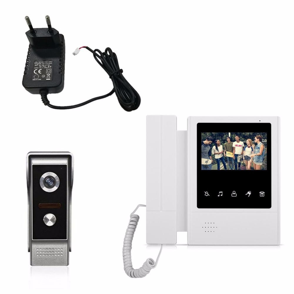 V43E168-M4 15V Wired Visual Doorbell Video Intercom Home Door Bell 4.3 Inch TFT-LCD Door Phone Infrared Night Vision Doorbell lcd wired video security doorphone camera tft screen video interphone infrared night vision doorbell intercom