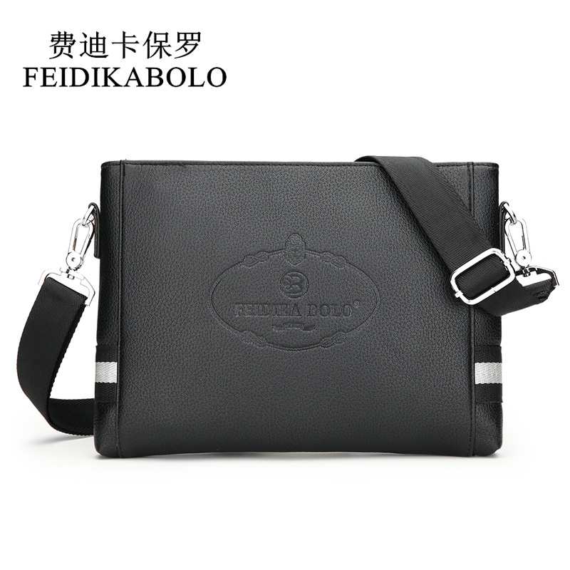 FEIDIKABOLO New Fashion Men Bags Male Leather Messenger Bag Clutch Purse Promotional Crossbody Shoulder Bag Hand Bags Wallet Man 2017 120cm diy metal purse chain strap handle bag accessories shoulder crossbody bag handbag replacement fashion long chains new