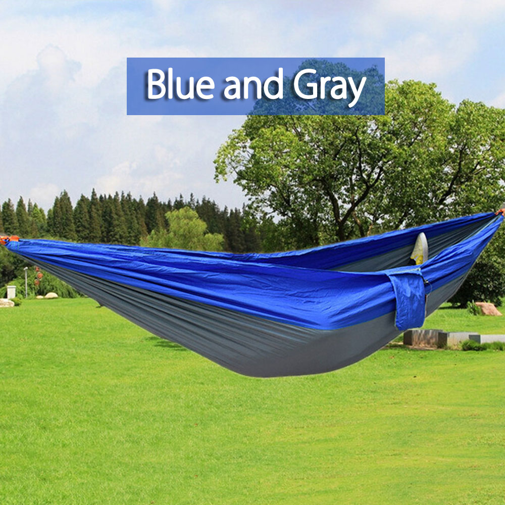 Hammocks Portable Nylon Double Person Outdoor Hammock Parachute Fabric Hammock For Travel Hiking Backpacking Camping Outdoor Furniture