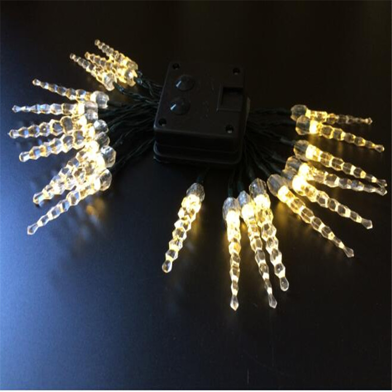 7.5M 50LED fairy <font><b>Light</b></font> Solar <font><b>Battery</b></font> Operated <font><b>Icicle</b></font> LED Christmas string <font><b>light</b></font> for Outdoor Indoor Wedding Xmas Party Decoration