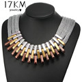 2017 New Acrylic Wear Beads Necklaces & Pendants Vintage Necklaces Women Steampunk Infinity Drops Choker Maxi colar feminino