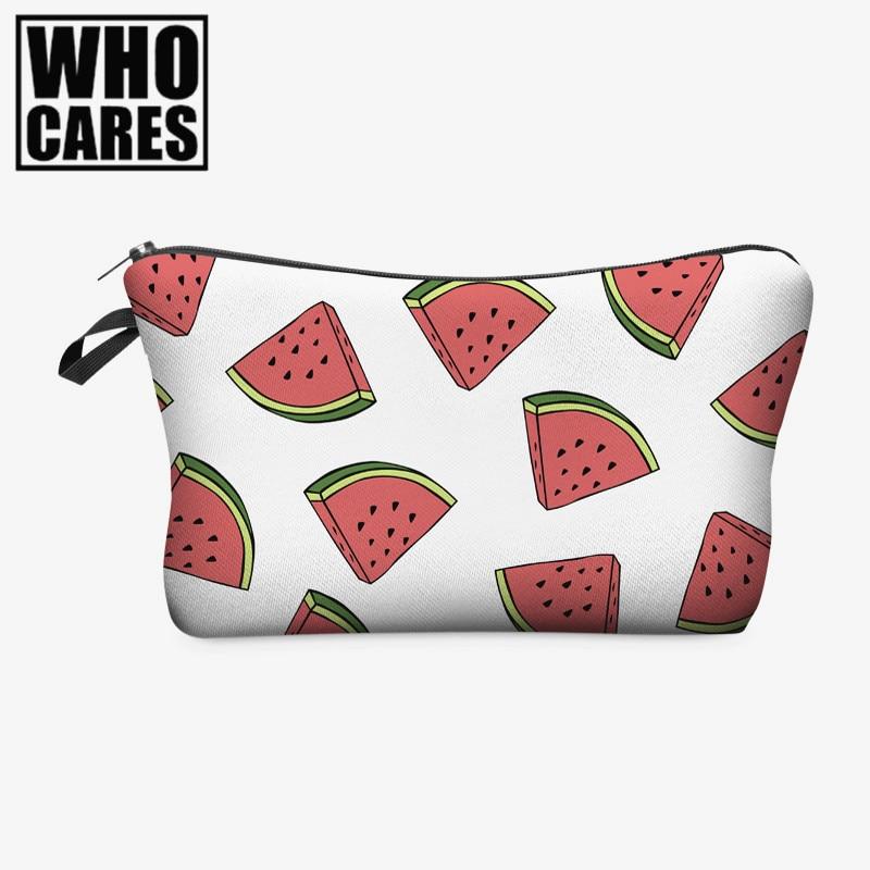 Fruit watermelon 3D Printing cosmetic bag Fashion makeup bags pencil case for student women trousse de maquillage make up bag