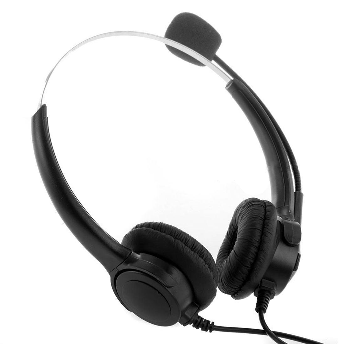 Marsnaska Brand New Fashion 4-Pin Call Center Corded Operator Telephone Headset High Quality Headphones with Microphone
