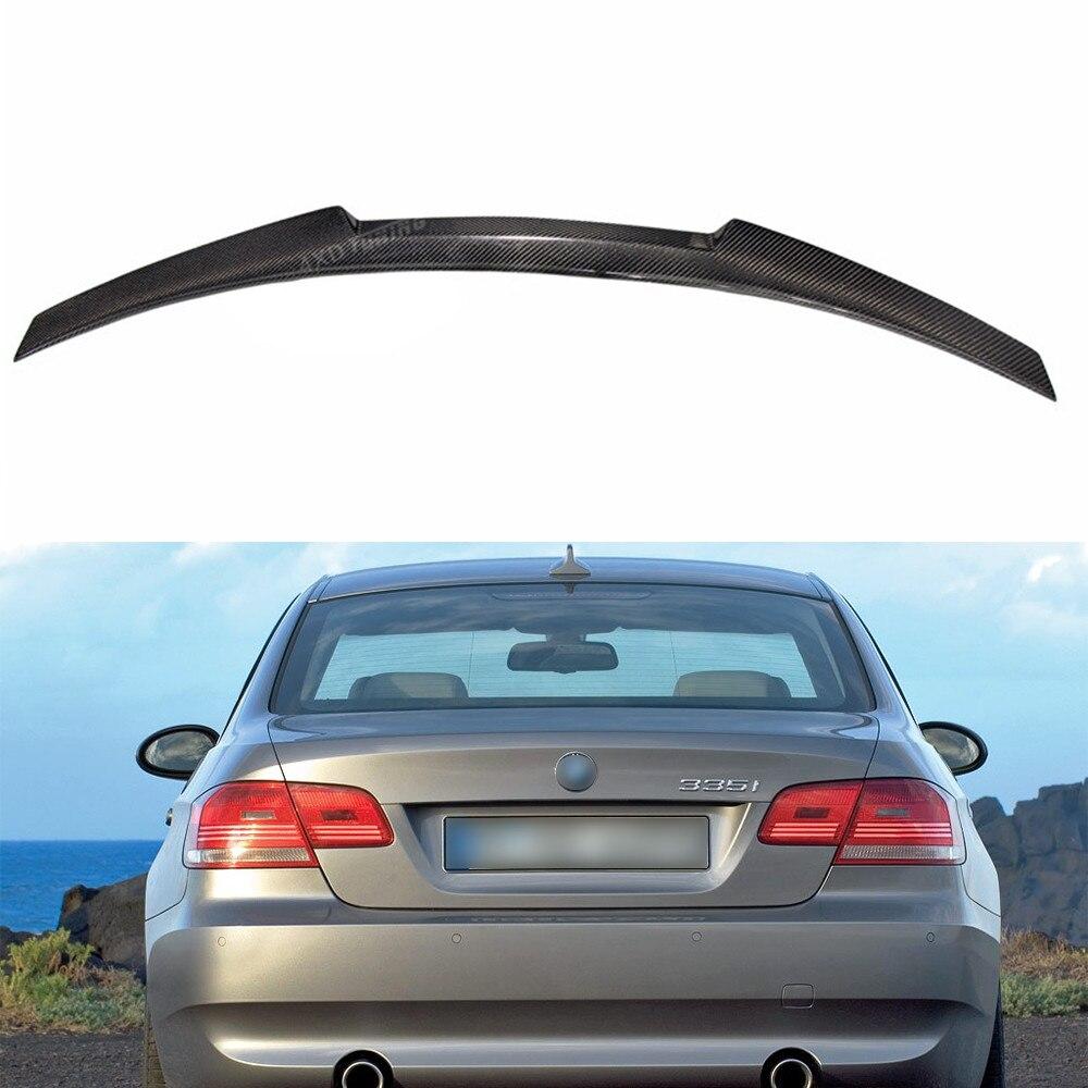 For BMW E92 Spoiler New M4 Style 3 Series E92 & E92 M3 320i 330i 335i Carbon Fiber Rear Spoiler Wing Coupe 2-Doors 2005 - 2012 p style for bmw e92 spoiler 3 series e92