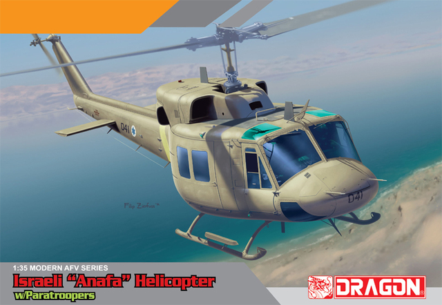 "Dragon model 3543 1/35 scale AFV Series Israeli ""Anafa"" Helicopter w/Paratroopers"