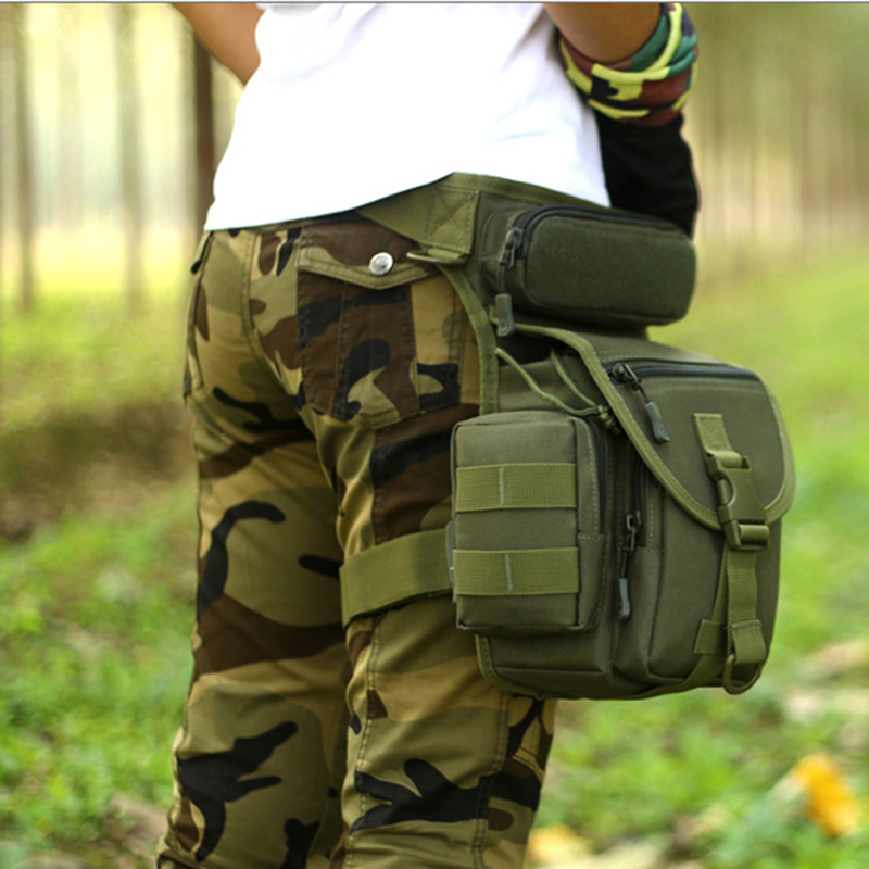 Waterproof Nylon Tactical Drop Leg Bag Molle System Hunting Tool Waist Pack Belt Thigh Pouch Men Women Military Equipment K314 airsoft tactical molle vest waist bag men hunting belt edc pack pocket 600d nylon belt bag military waist pouch equipment