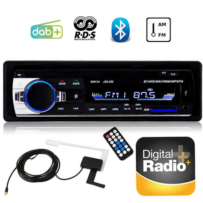 DAB + カーラジオ、カーステレオ RDS 液晶、収入 MP3 プレーヤー Autoradio FM AM USB と SD カードスロット 1 喧騒の Bluetooth ラジオカセットプレーヤー