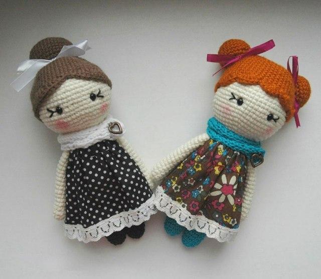Boneca de crochê para o presente, lady gilr, belo presente para amigo amigurumi, tirar foto usar linda