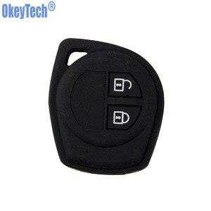 Image 5 - Okeytech Cao Su Silicone 2 Nút Xe Từ Xa Key Fob Ốp Lưng Bảo Vệ Dành Cho Suzuki SX4 Swift VITARA Vỏ Chìa Khóa Giá Đỡ phụ Kiện