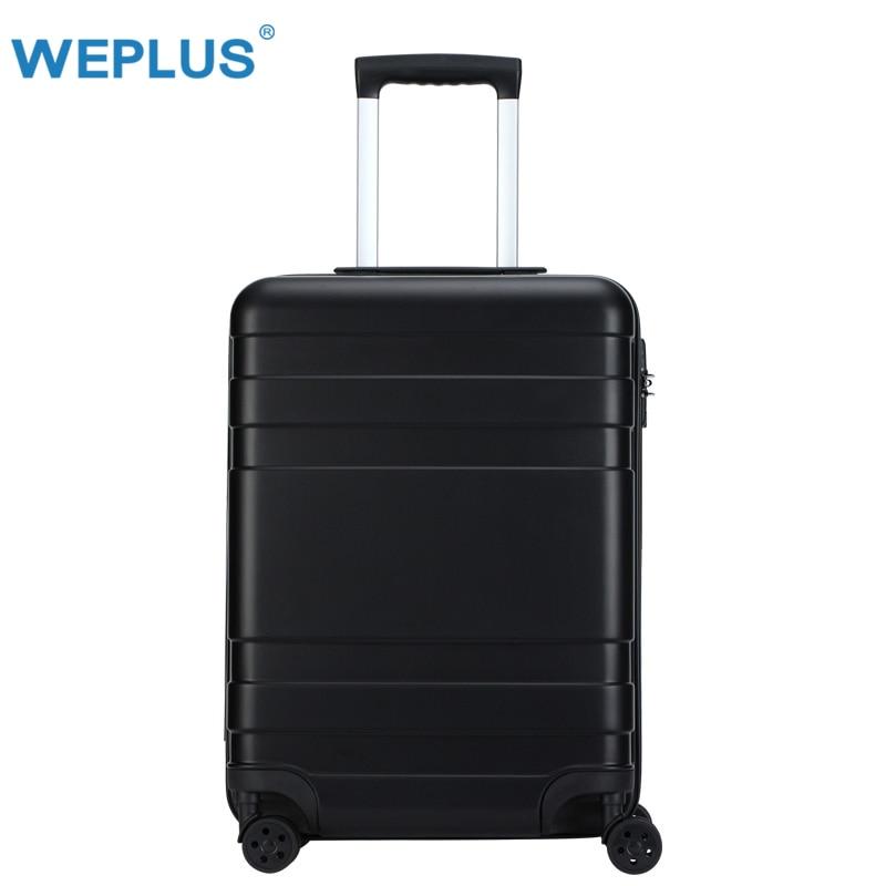20 inch 24'' Luggage trolley case Key TSA Customs Lock Design suitcase Travel luggage PC business Boarding Women black Upscale