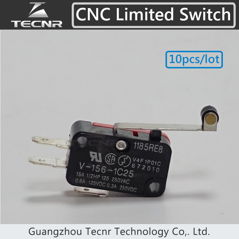 Lowest price 10pcs Long Hinge Lever Momentary Micro cnc Limit Switch for cnc router
