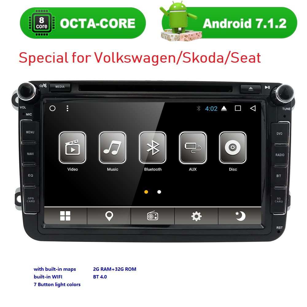 VW Radio 8 Core 2Din Android 7 1 2 Octa Core 1024 600 font b Car