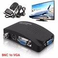 Digital BNC AV/S de vídeo Para VGA RCA de Sinal de TV Moniteur conversor Adaptador Interruptor de Conversão de Resolução de Vídeo Para PC Portátil TV caixa